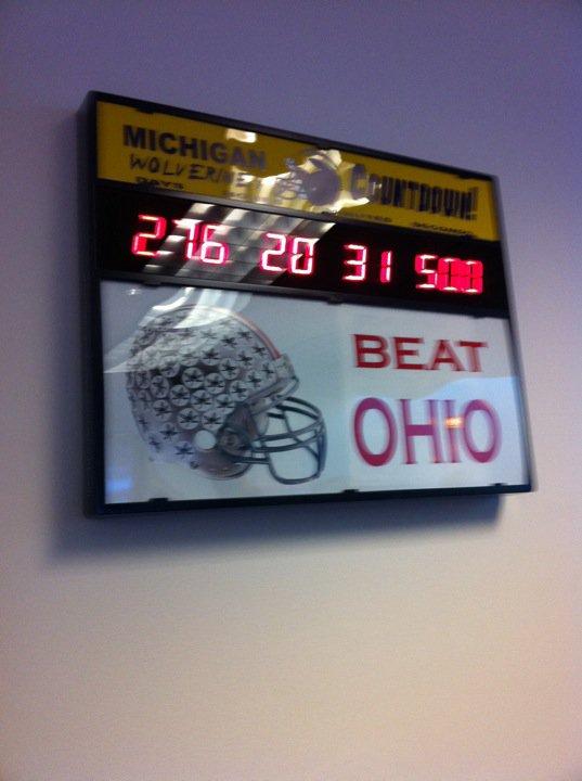 countdownclock Michigan clocks Ohio State