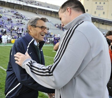 Joe Paterno reaches 408th win, ties the late Eddie Robinson for total career victories