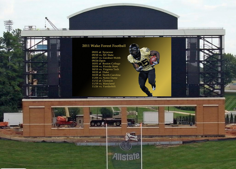 video scoreboard 9 7 11 copy L Wake Forest boasts new video board against FSU