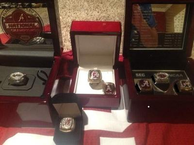 Alabama Player Rings on eBay