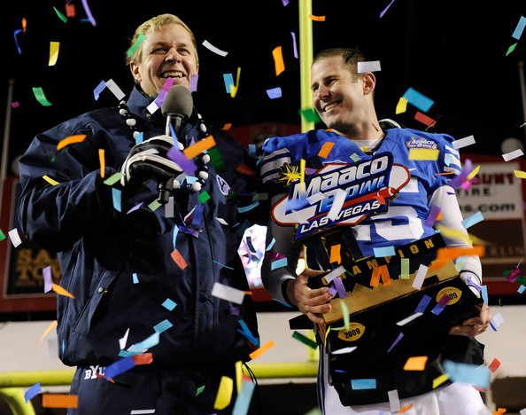 Can BYU head coach Bronco Mendenhall add to his bowl trophy collection?