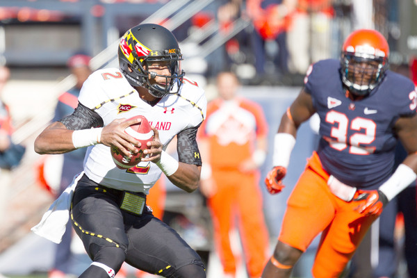 Maryland QB Devin Burns (#2) withdraws from school, leaves team.