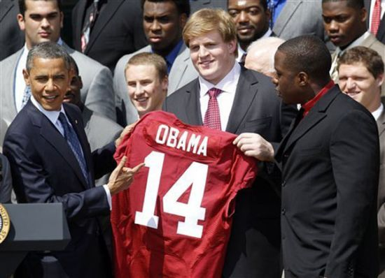 Alabama to visit the White House for the third time in four years.