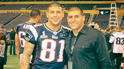 Aaron and D.J. Hernandez during happier times.