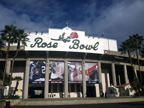 The 2014 VIZIO BCS National Championship Game will be the national championship game of the 2013 college football season and is scheduled for Monday, January 6, 2014.[2] The game will be played at the Rose Bowl Stadium in Pasadena, California, kicking off at 8:30 p.m. ET.