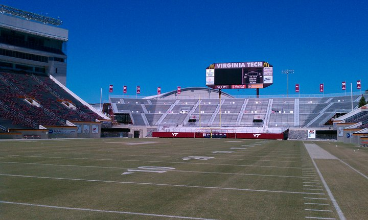Virginia Tech's Lane Stadium is expected to have empty seats this Saturday, the first time since 1998.