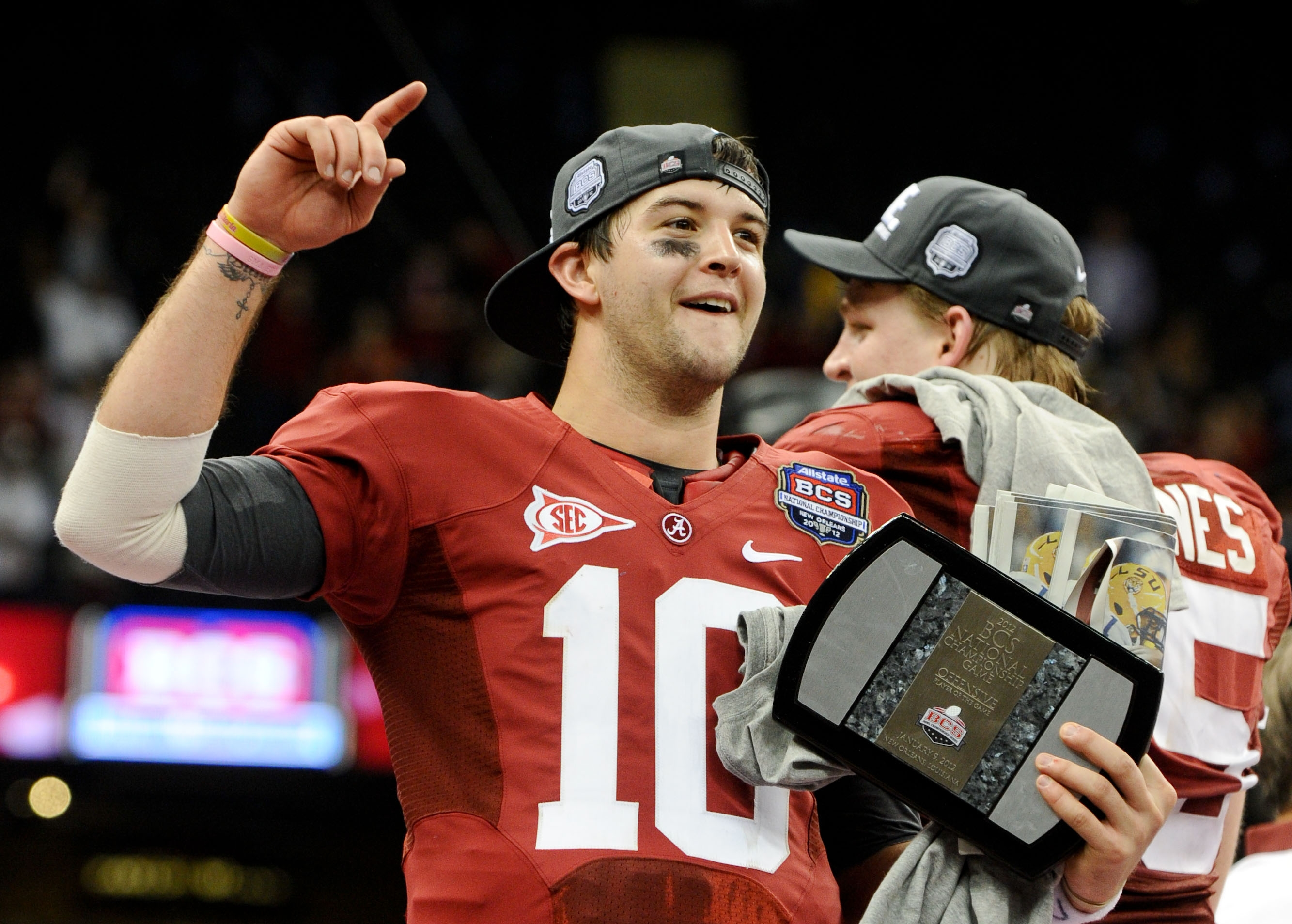AJ McCarron wins, people