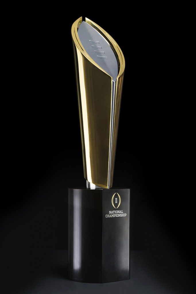 The college football community welcomes the championship trophy. Photo Credit: Joe Faraoni/ESPN Images