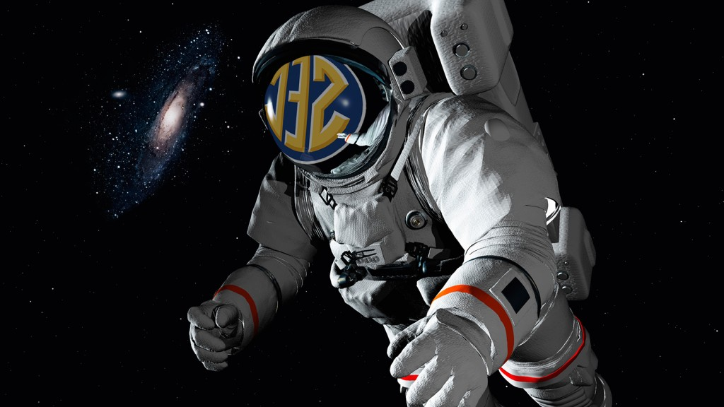 The SEC will air in space. Photo: FoxSports